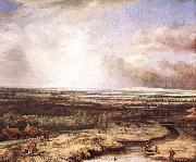 Philips Koninck An Extensive Landscape with a Hawking Party oil painting